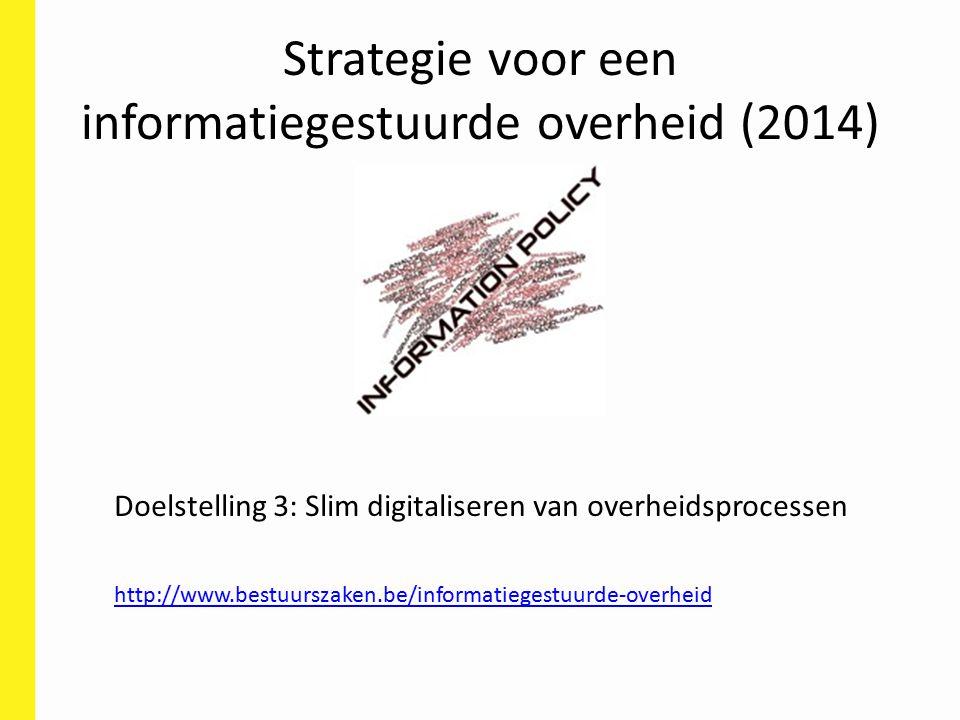Strategie voor een informatiegestuurde overheid (2014)