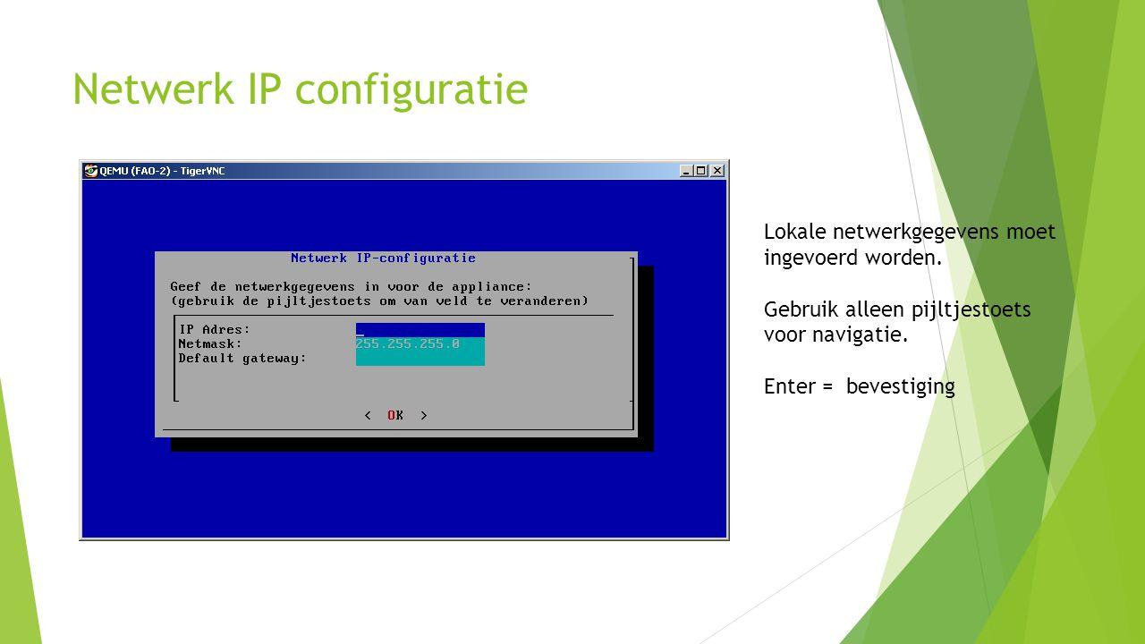Netwerk IP configuratie