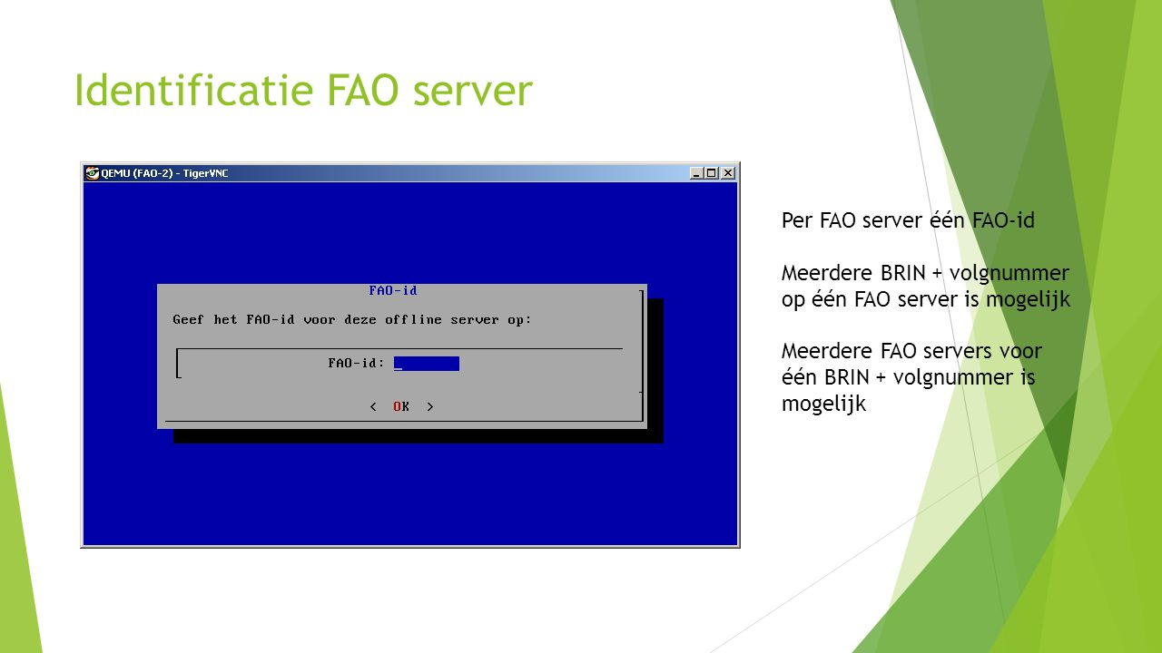 Identificatie FAO server