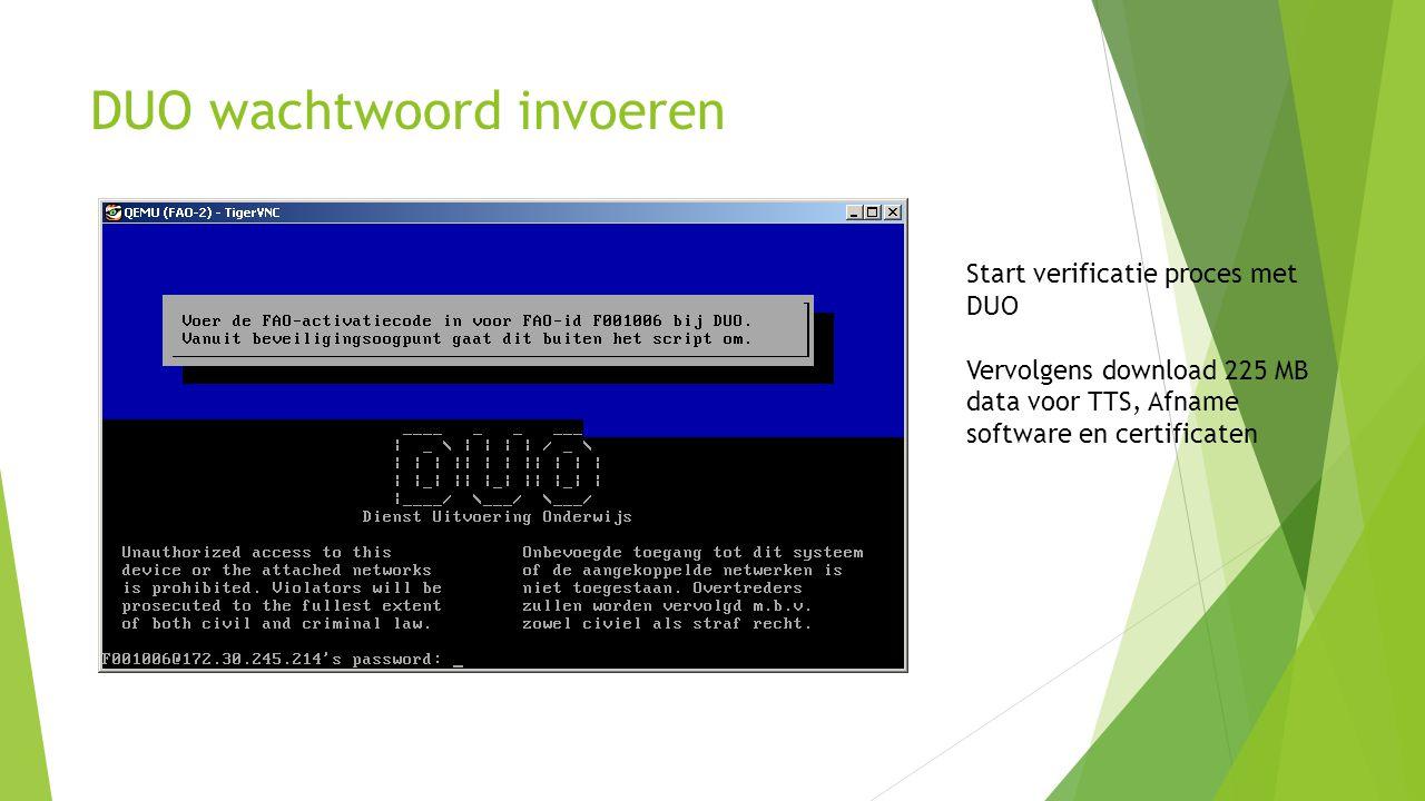 DUO wachtwoord invoeren