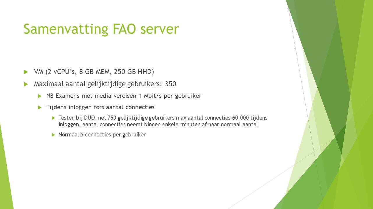 Samenvatting FAO server