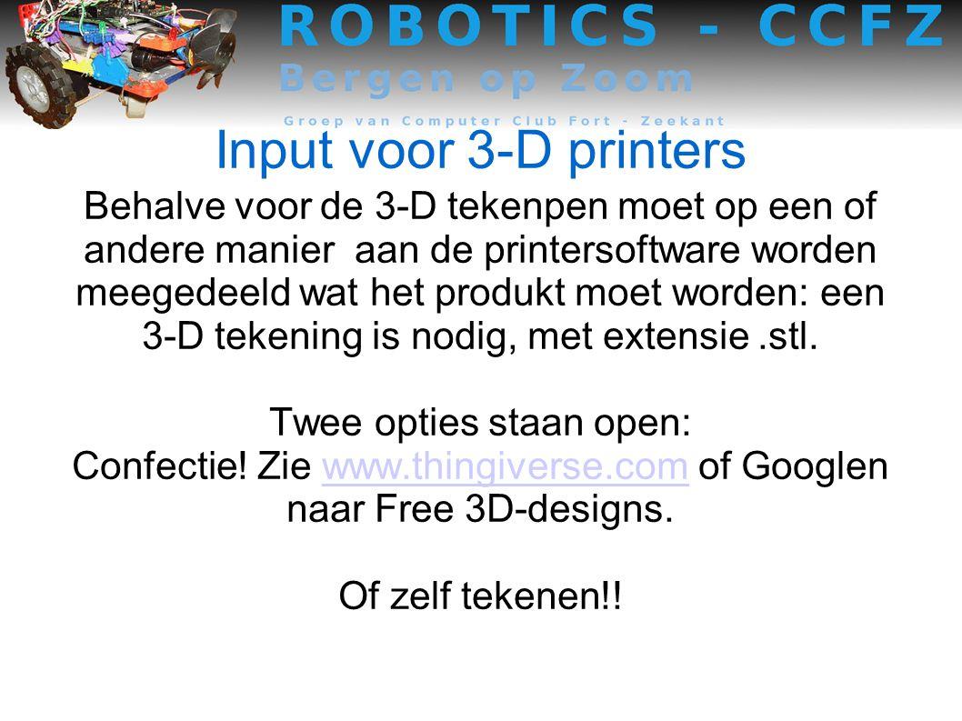 Input voor 3-D printers