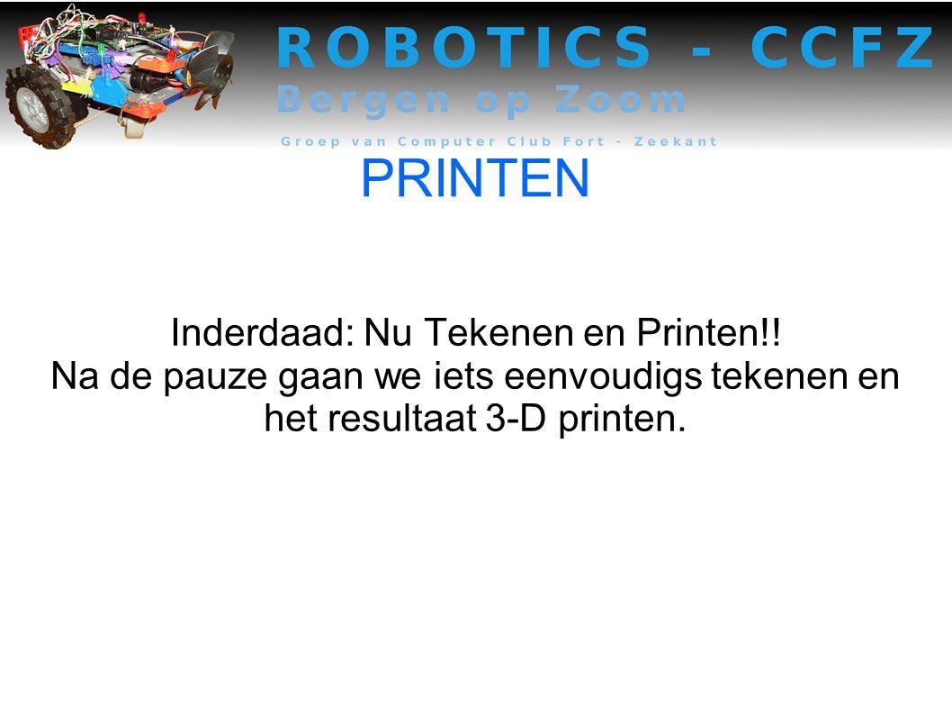 Inderdaad: Nu Tekenen en Printen!!