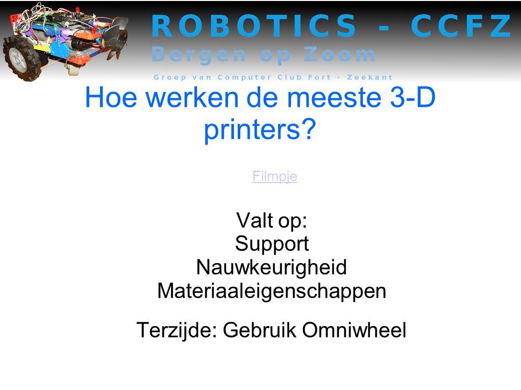 Hoe werken de meeste 3-D printers