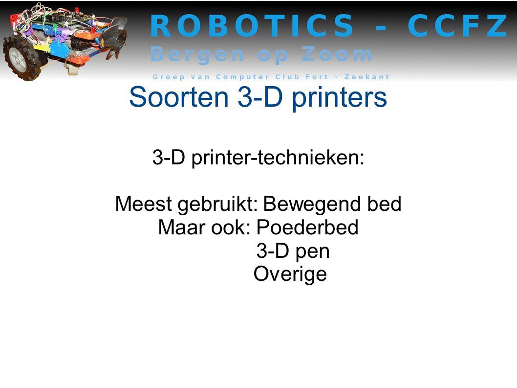 Soorten 3-D printers 3-D printer-technieken: