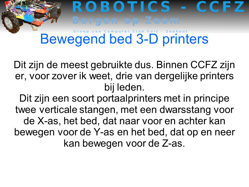 Bewegend bed 3-D printers