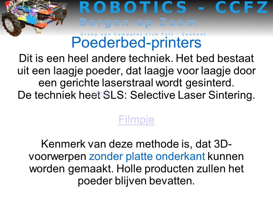 De techniek heet SLS: Selective Laser Sintering.