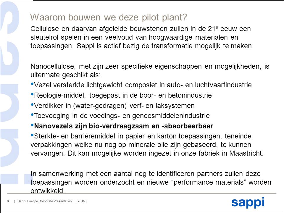 Waarom bouwen we deze pilot plant