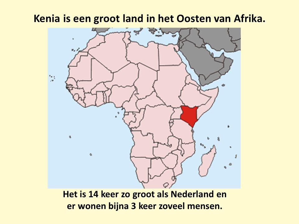 Kenia is een groot land in het Oosten van Afrika.