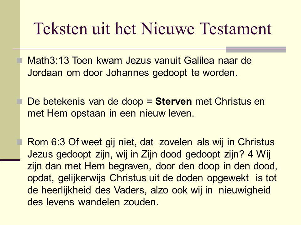 Teksten uit het Nieuwe Testament