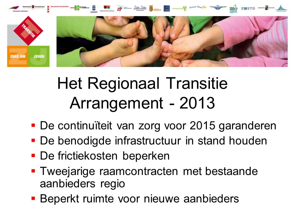 Het Regionaal Transitie Arrangement - 2013
