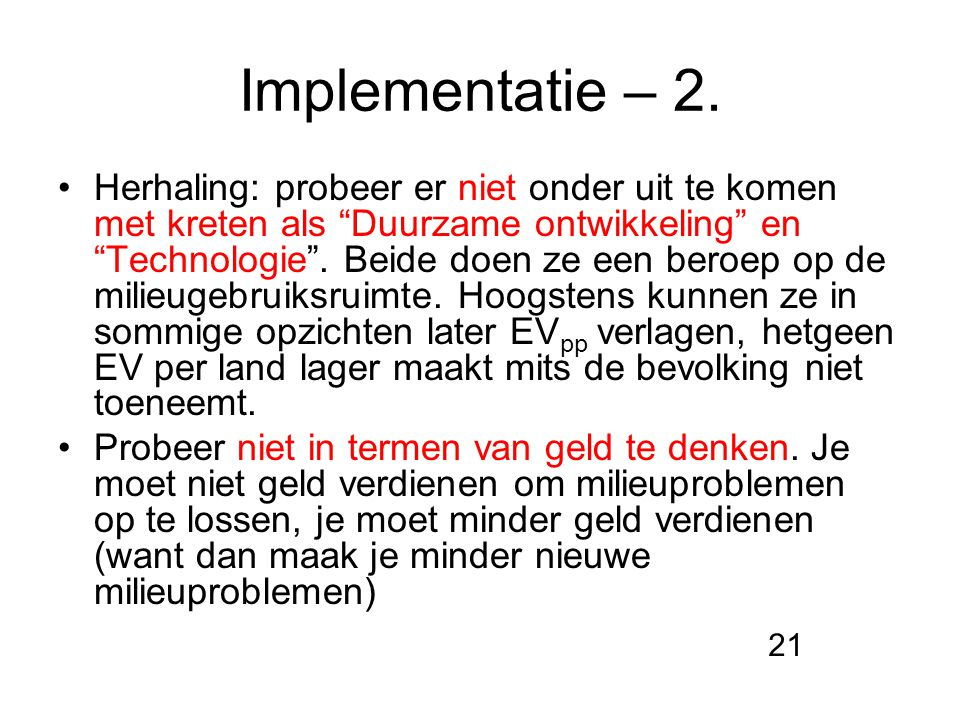 Implementatie – 2.