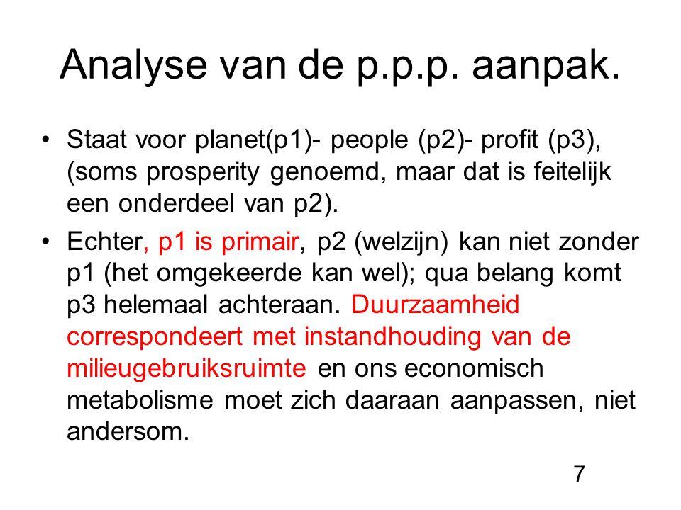Analyse van de p.p.p. aanpak.