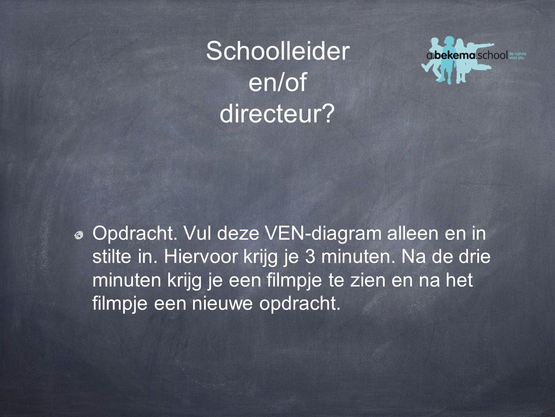 Schoolleider en/of directeur