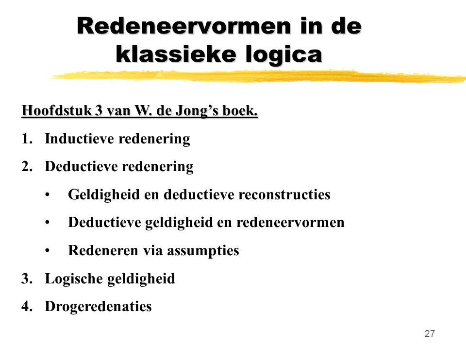 Redeneervormen in de klassieke logica