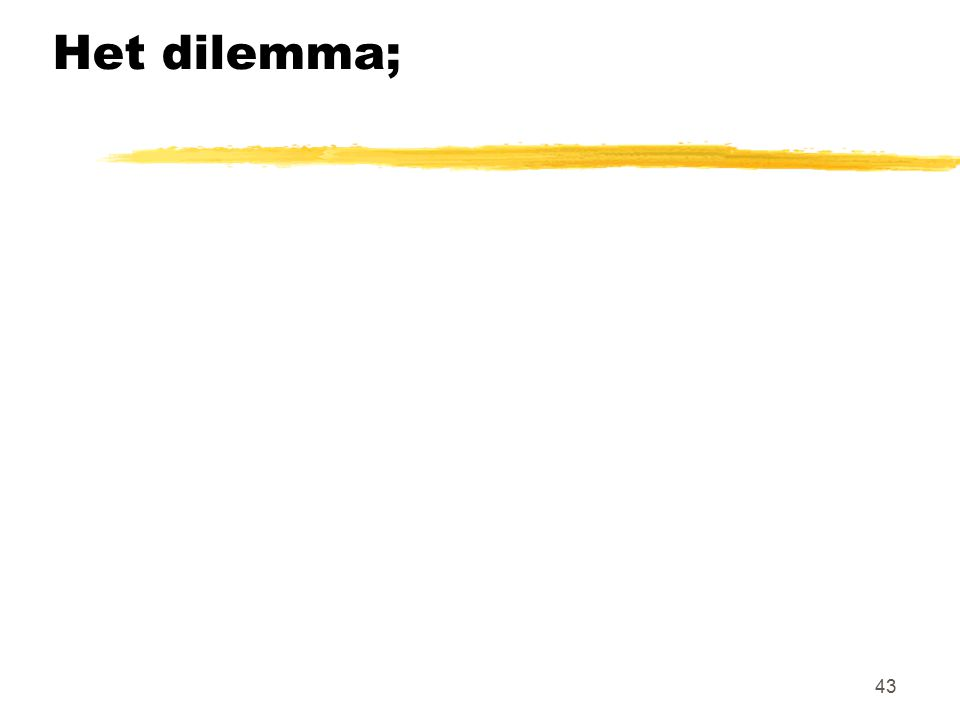 Het dilemma;
