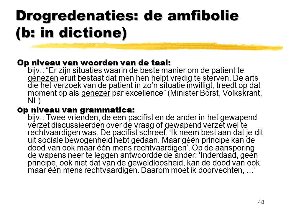 Drogredenaties: de amfibolie (b: in dictione)