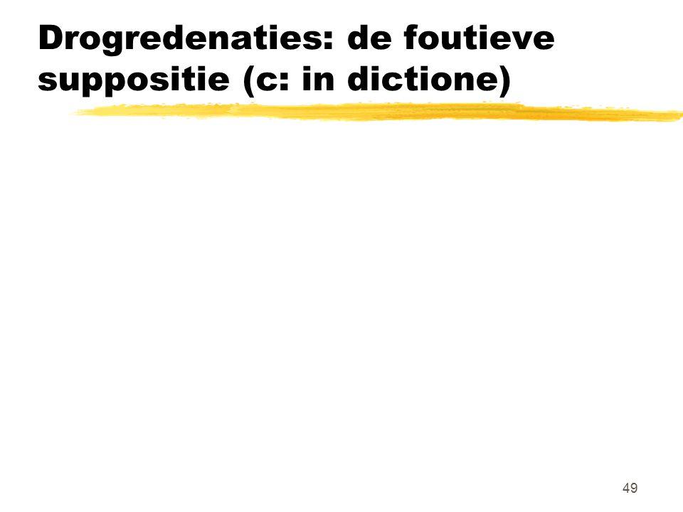 Drogredenaties: de foutieve suppositie (c: in dictione)