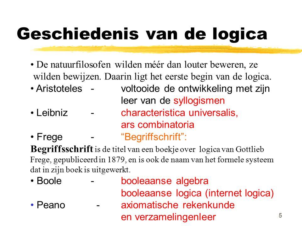 Geschiedenis van de logica