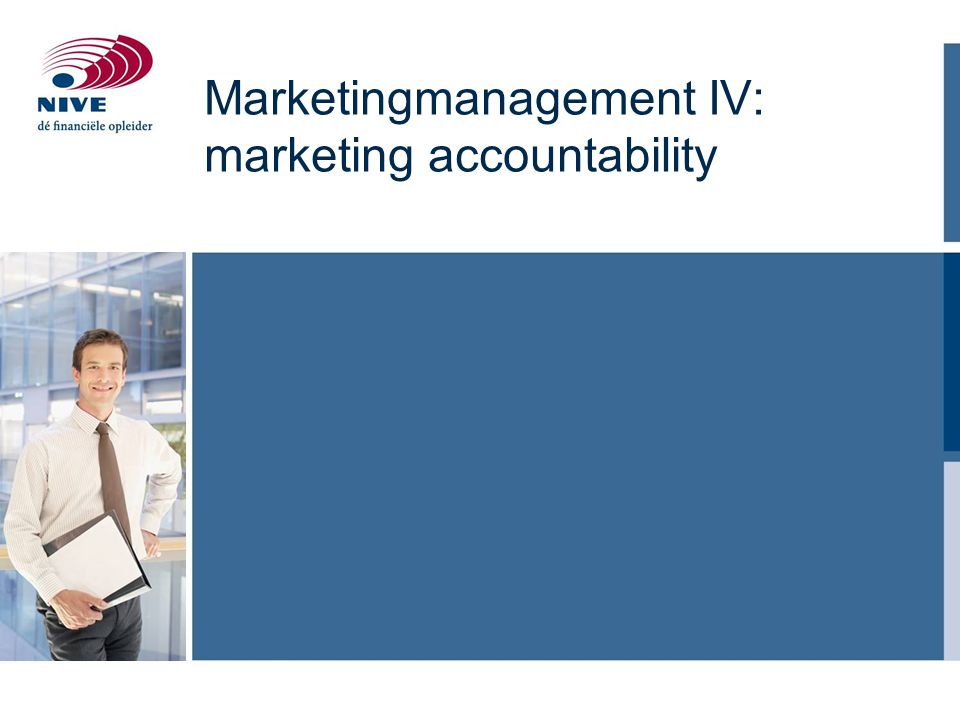 Marketingmanagement IV: marketing accountability