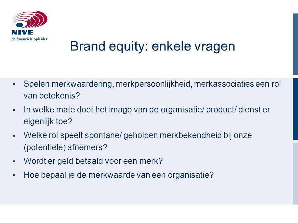 Brand equity: enkele vragen