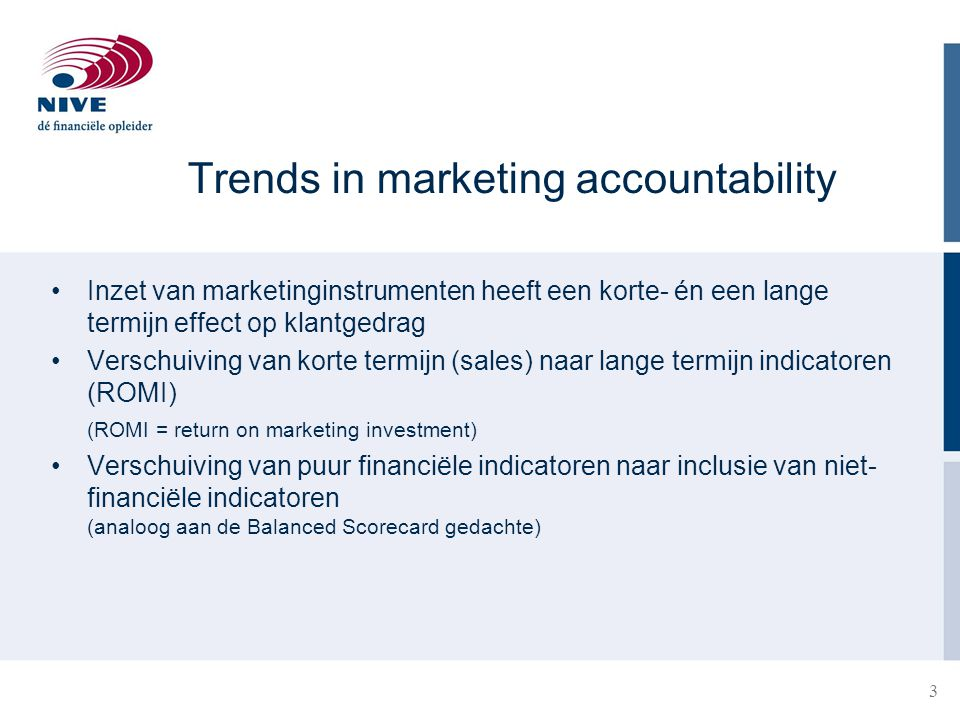 Trends in marketing accountability