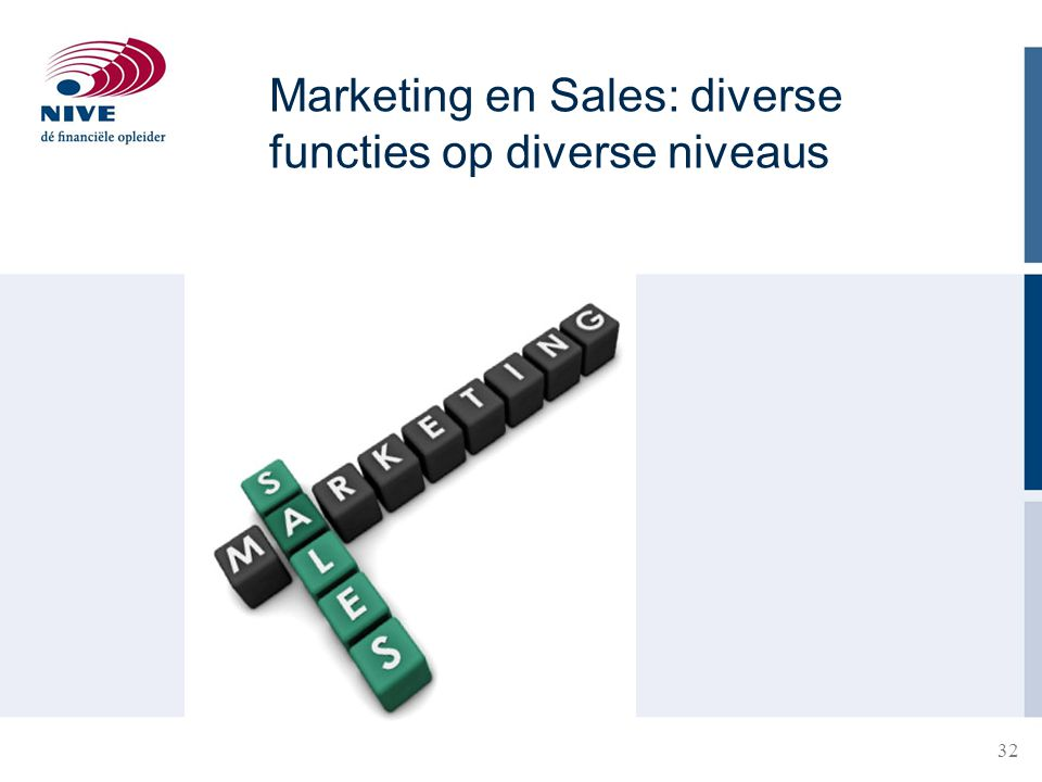 Marketing en Sales: diverse functies op diverse niveaus