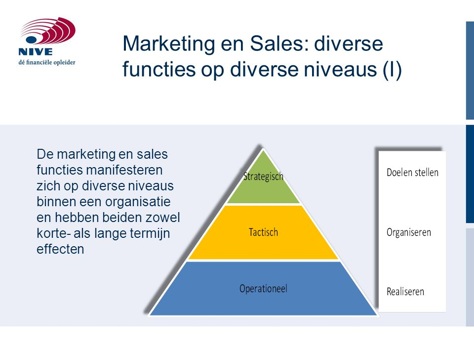 Marketing en Sales: diverse functies op diverse niveaus (I)