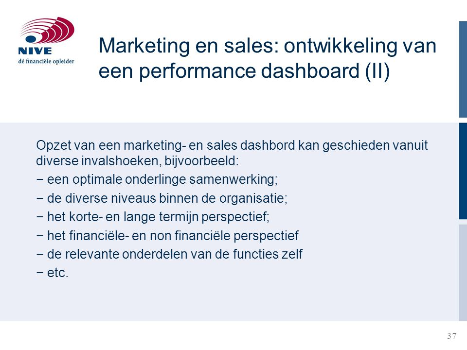 Marketing en sales: ontwikkeling van een performance dashboard (II)