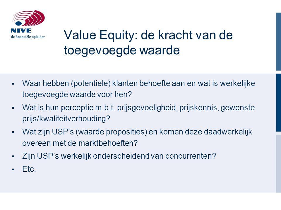 Value Equity: de kracht van de toegevoegde waarde