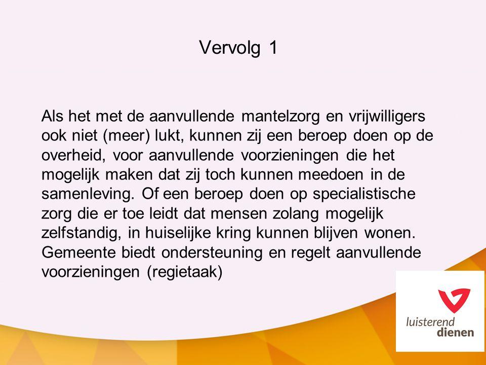 Vervolg 1