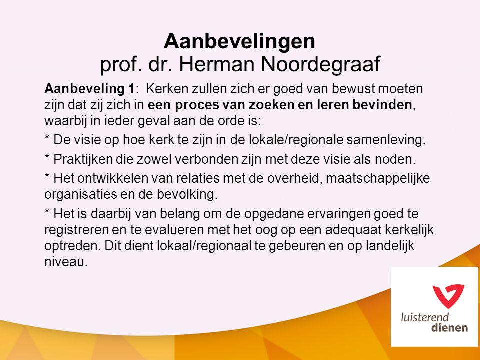 Aanbevelingen prof. dr. Herman Noordegraaf