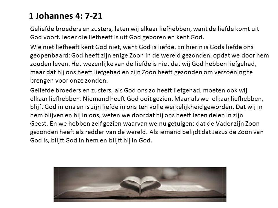 1 Johannes 4: 7-21