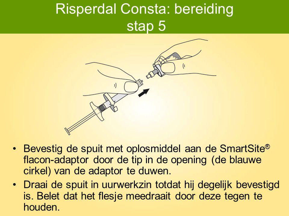 Risperdal Consta: bereiding stap 5
