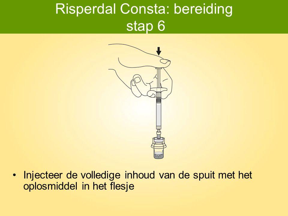 Risperdal Consta: bereiding stap 6