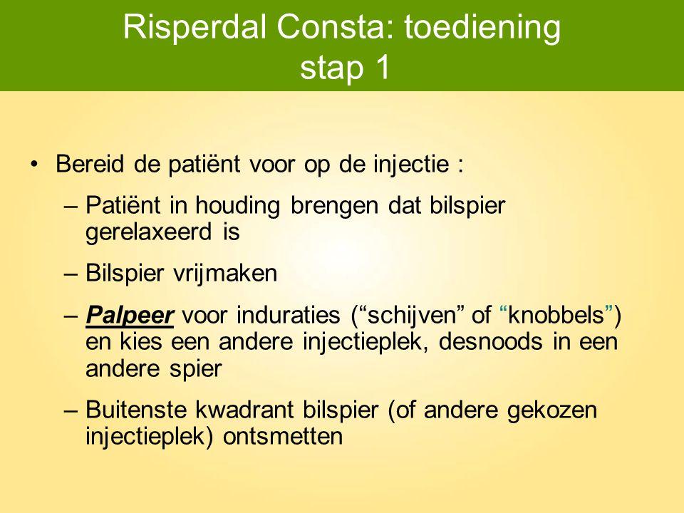 Risperdal Consta: toediening stap 1