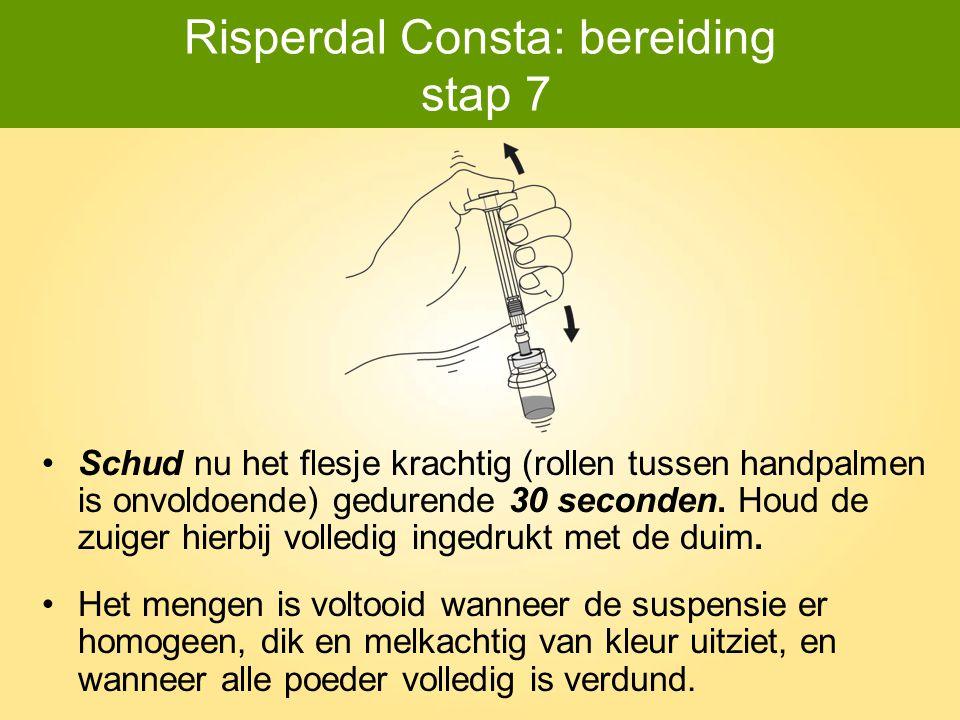 Risperdal Consta: bereiding stap 7