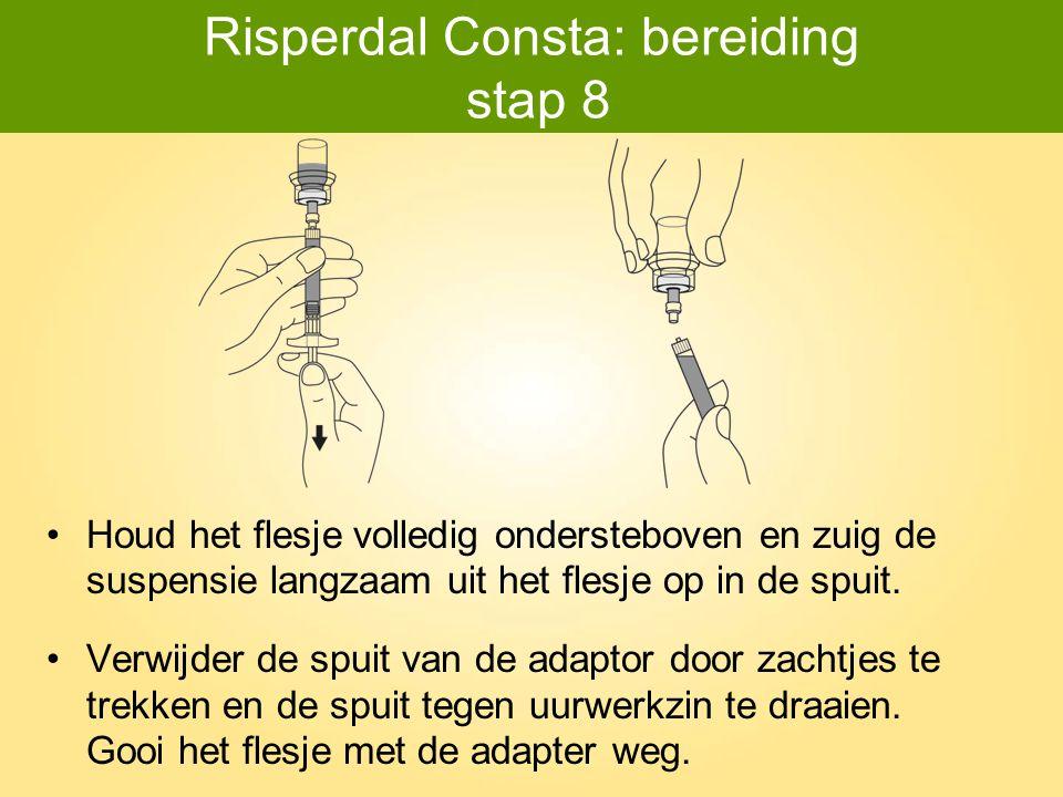 Risperdal Consta: bereiding stap 8
