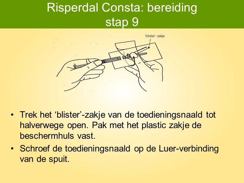 Risperdal Consta: bereiding stap 9
