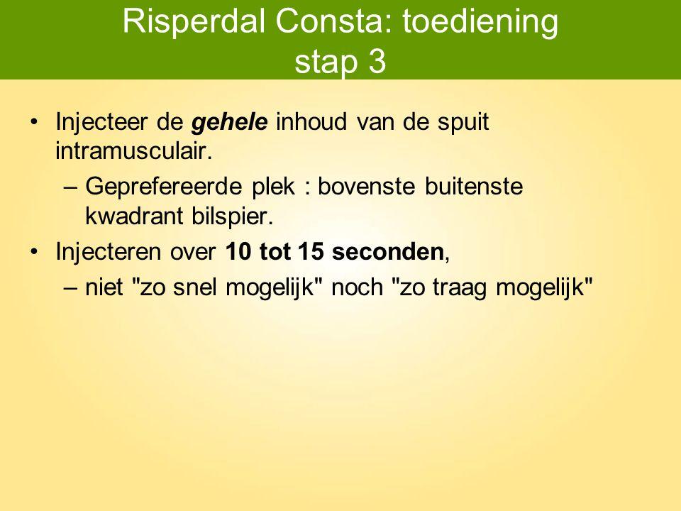 Risperdal Consta: toediening stap 3
