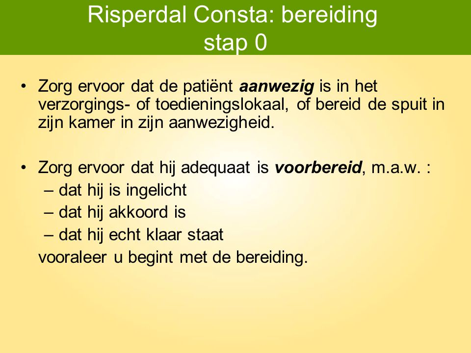 Risperdal Consta: bereiding stap 0