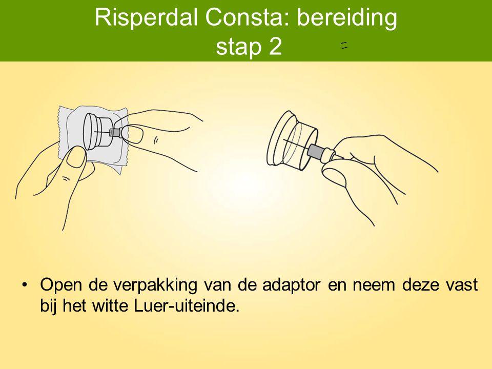 Risperdal Consta: bereiding stap 2