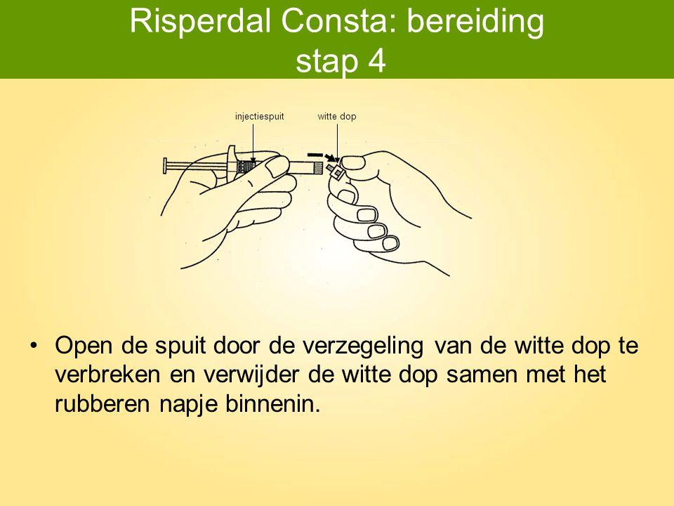 Risperdal Consta: bereiding stap 4