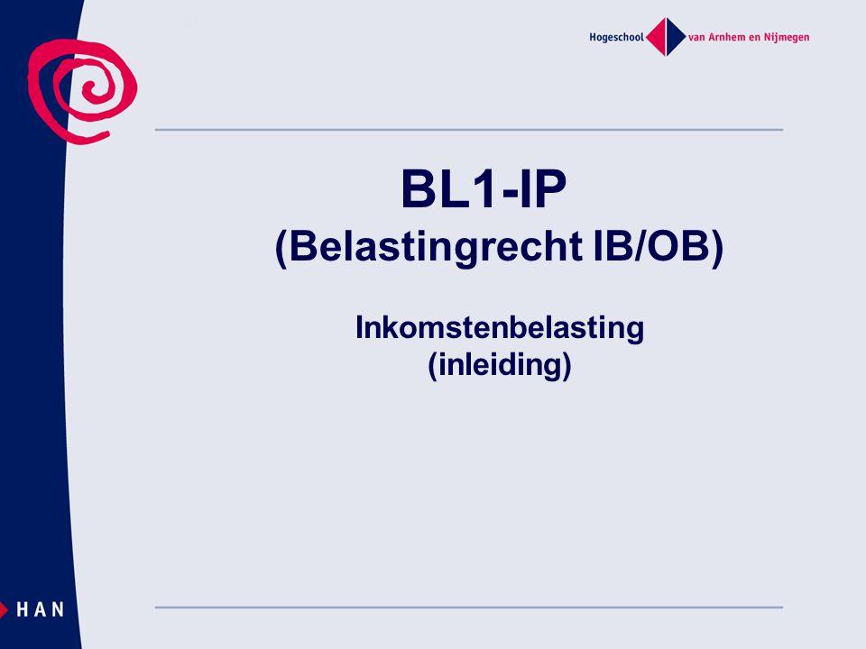 BL1-IP (Belastingrecht IB/OB) Inkomstenbelasting (inleiding)