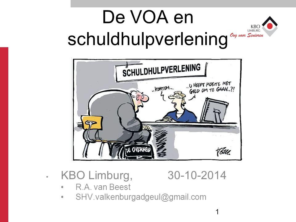 De VOA en schuldhulpverlening