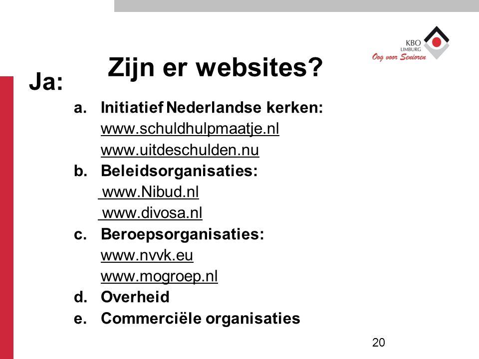 Zijn er websites Ja: Initiatief Nederlandse kerken: