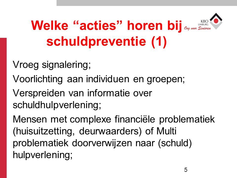 Welke acties horen bij schuldpreventie (1)