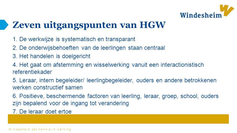 Zeven uitgangspunten van HGW