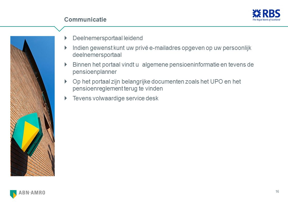 Communicatie Deelnemersportaal leidend