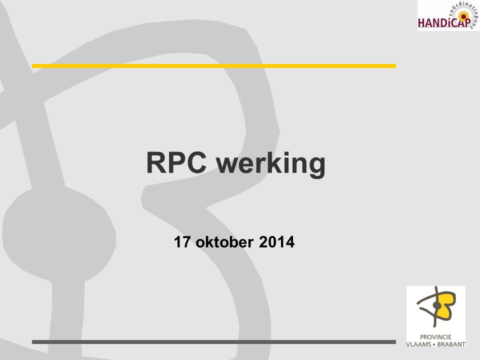 Coördinatiepunt Handicap VBB 17 oktober 2014